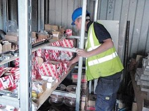 Electrical Materials Stored in Container