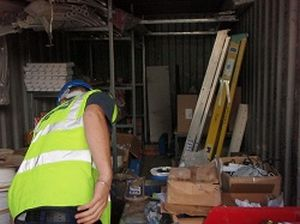 Access Equipment Stored in Container