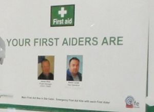 Nominated First Aiders On Site