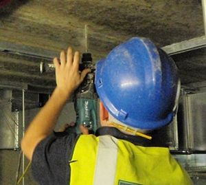 Drilling Ceiling To Secure Unistrut
