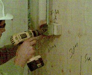 Noggins Used To Secure Boxes Using 1/2 inch 8's Wood Screws