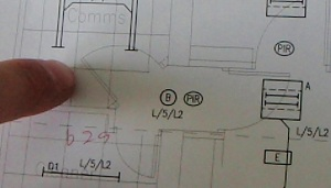 Drawing Of Comms Room Lighting System