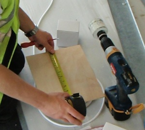 Measuring Out For 70mm Hole
