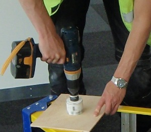 Cutting 70mm Hole For Detector