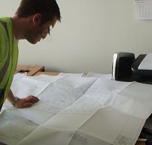 Referring To Drawings In Site Office