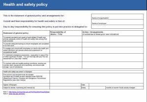 Company Health & Safety Policy