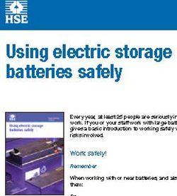 HSE Guide On Using Electric Storage Batteries Safely