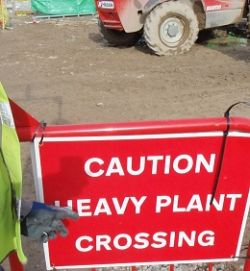 Warning Of Heavy Plant Crossing