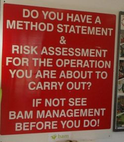 Method Statement & Risk Assessment Required