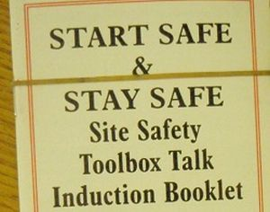Site Safety Toolbox Talk Induction Booklet
